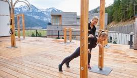 Fitnessparcours-Liegestütz