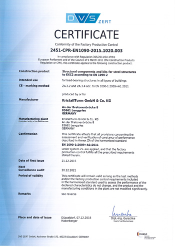 сертификат EN 1090