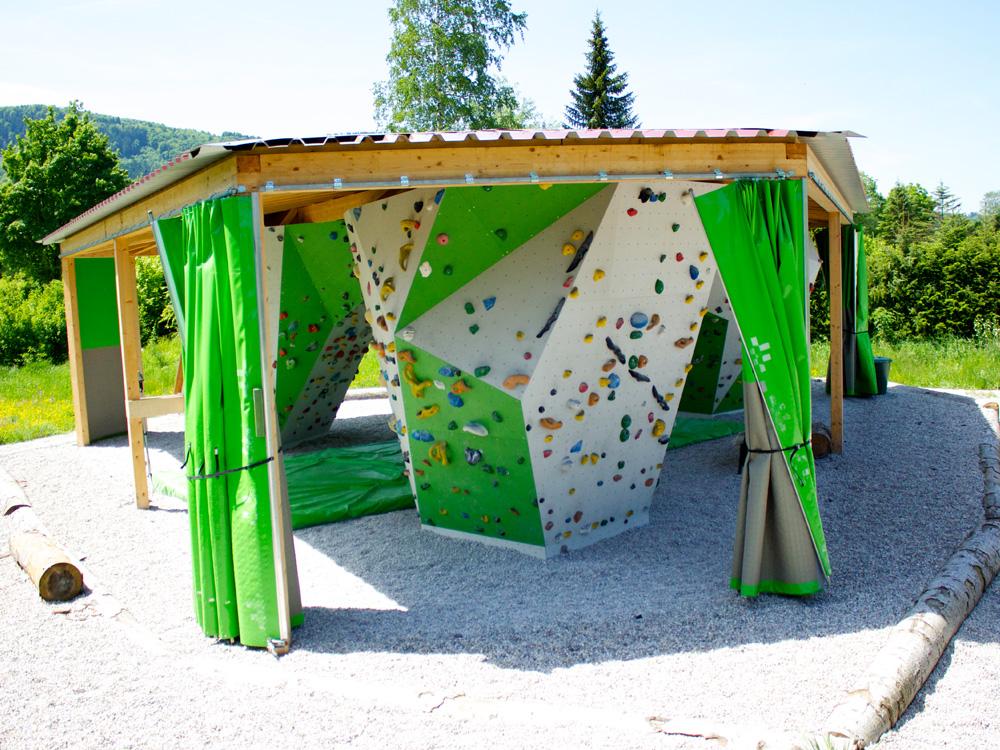 Boulderpavillon Seitenansicht