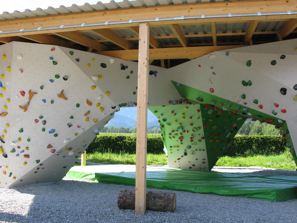 Boulderpavillon Innenansicht