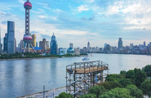 Magic Jungle vor Skyline Shanghai